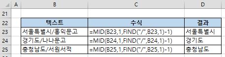 엑셀함수 FIND, FINDB – 텍스트에서 특정 텍스트의 위치 찾기