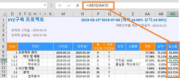 [엑셀간트 사용법] 12 – Excel 기능과 통합(행,열 추가, 함수제공)