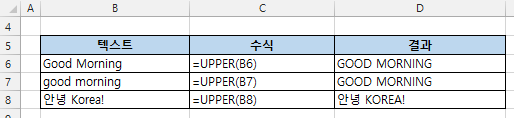 excel function upper