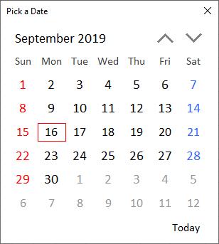 XLGantt(Excel Gantt) pick a date