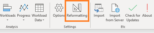 XLGantt(Excel Gantt) reformatting