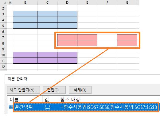 엑셀함수 AREAS