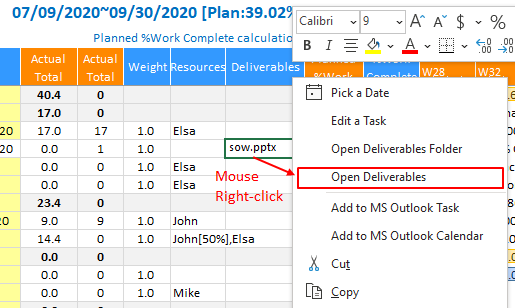 XLGantt(Excel Gantt) How to – Deliverables