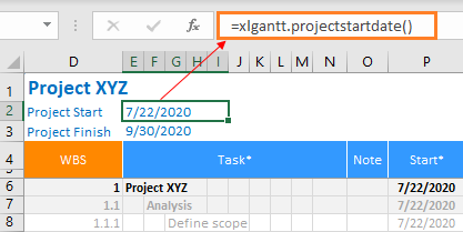 XLGantt(Excel Gantt) How to - Integration with Excel Features